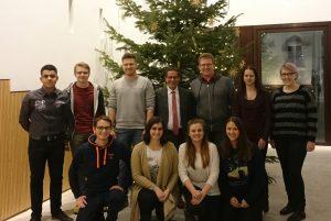 Jusos im Hessischen Landtag mit Jugendbeirat und Di Benedetto MdL